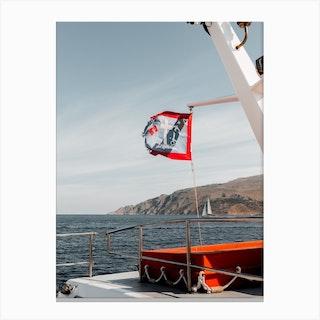 Ferry To Hydra Greece Canvas Print