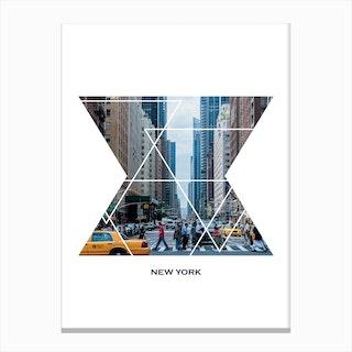 New York Geometric Canvas Print