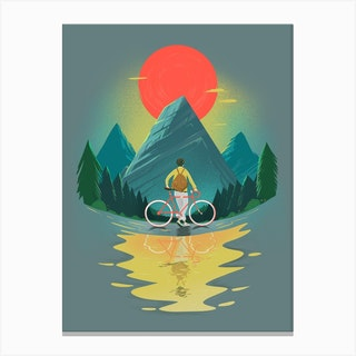 Mountain Range Riding Canvas Print