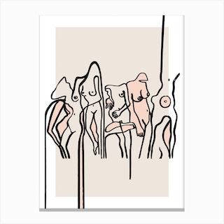 Nudists Canvas Print