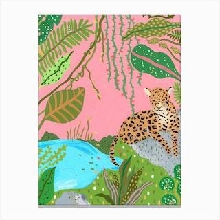 Tigress Of The Jungle Canvas Print