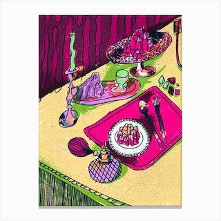 Crystal Meal Warm Canvas Print