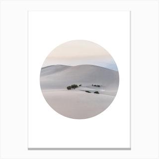 Landscapes Circular 4 Death Valley Canvas Print