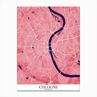 Cologne Pink Purple Canvas Print