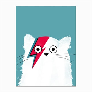 Cat Bowie   White Version Canvas Print