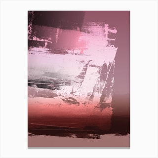 Expressive Abstract In Pink Canvas Print