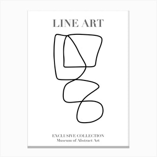 Line Art Abstract Collection 03 Canvas Print