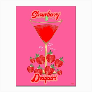 Cocktail Collection Strawberry Daiquiri Canvas Print