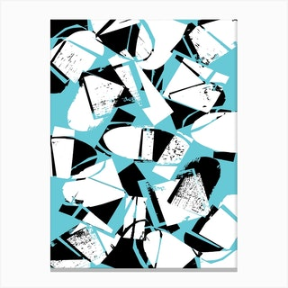 Blue And Black Canvas Print