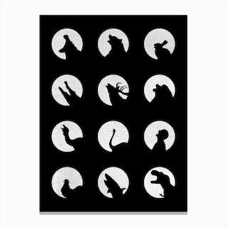 Wolfs Night Off Canvas Print