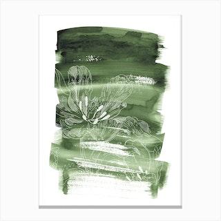 Green Batic Canvas Print