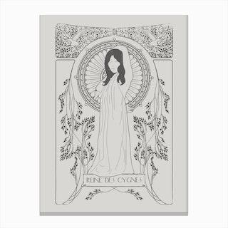 Reine Des Cygnes In Grey Canvas Print