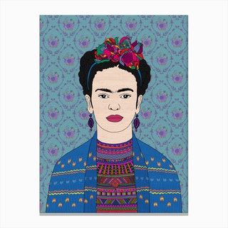 Frida Kahlo I in Canvas Print
