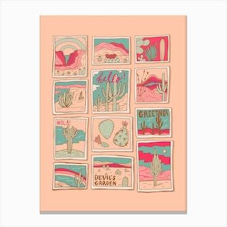 Travel Postcards Canvas Print