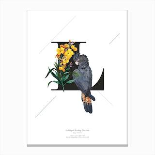 Botanical Alphabet L Canvas Print