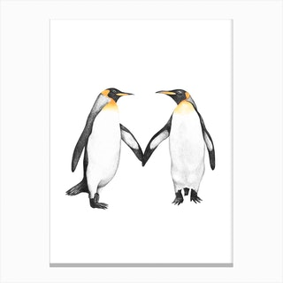 Royal Penguins Canvas Print