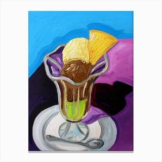 Vanilla Chocolate And Pistachio Ice Cream Dream  Canvas Print