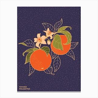 Orange Branch Canvas Print