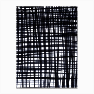 Brushed Check Canvas Print