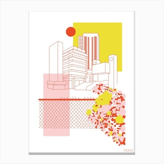 Brutalist Architecture Canvas Print