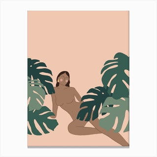 Jungle Girl 3 Canvas Print