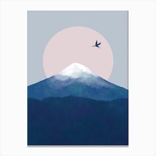 Fuji Crane Canvas Print