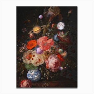 Bouquet Of Planets Canvas Print
