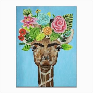 Frida Kahlo Giraffe Canvas Print