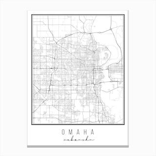 Omaha Nebraska Street Map Canvas Print