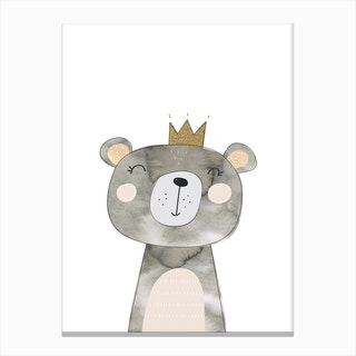 Grey Bear Canvas Print