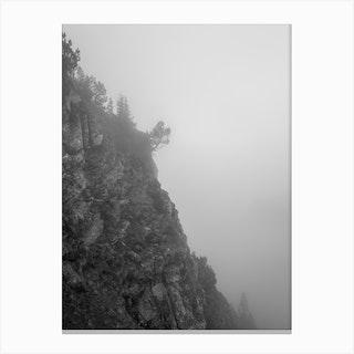 Misty Cliff Canvas Print