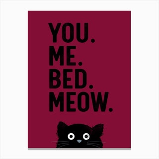Cat Meow Three Canvas Print