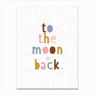 Moon And Back Canvas Print