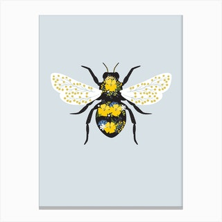 Floral Bee 2 Canvas Print