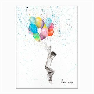 The Joy Of Balloon Boy Canvas Print