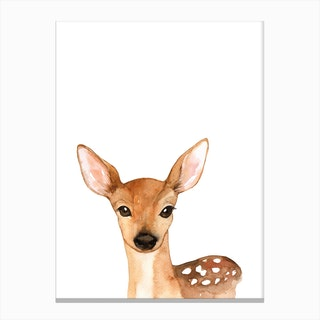 Nursery Deer Canvas Print