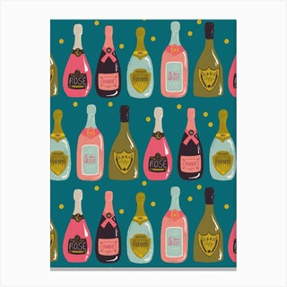 Champagne Rows Canvas Print