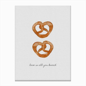 Love is All You Knead Canvas Print