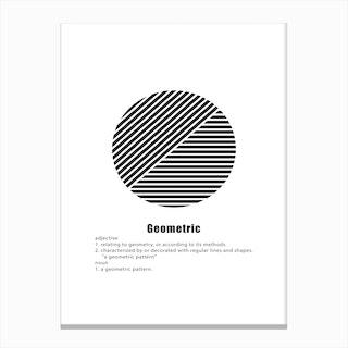 Circle Geometric Meaning Canvas Print