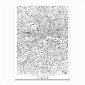 London Map Minimal Canvas Print