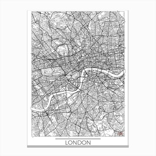 London Map Minimal Canvas Print