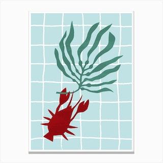 Lone Lobster Canvas Print