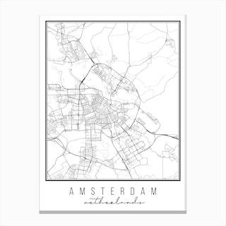 Amsterdam Netherlands Street Map Canvas Print