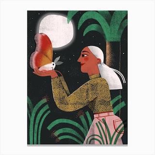 Night Jungle Moth Canvas Print
