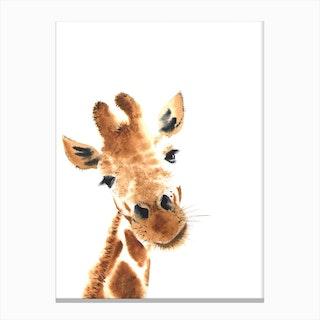 Little One Giraffe Canvas Print