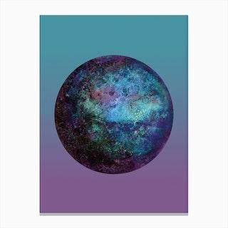 Keppler-22B Blue Gradient Canvas Print