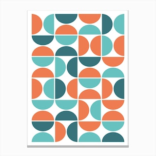 Scandinavian Geometric Canvas Print