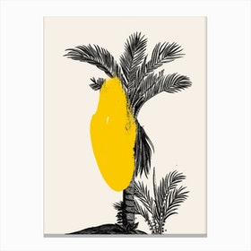 Tropical Tree Yellow Canvas Print