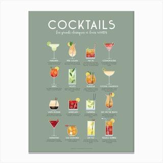 Guide Des Cocktails Canvas Print