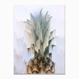 Glitched Pineapple Canvas Print